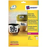 Image of Avery Heavy Duty Laser Labels / 14 per Sheet / 99.1x38.1mm / White / L7063-20 / 280 Labels