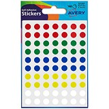 Image of Avery Coloured Labels / 8mm Diameter / Assorted Colours / 32-291 / 416 Labels