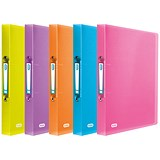 Image of Elba Snap Ring Binder / 2 O-Ring / 40mm Spine / 25mm Capacity / A4 / Assorted / Pack of 10
