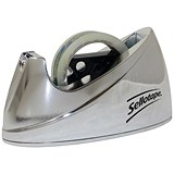Sellotape Large Desktop Tape Dispenser / Non-slip / Capacity: W25mmxL66m / Chrome