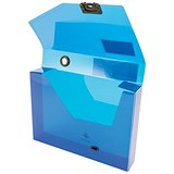Image of Concord Plastic Document Box / 60mm Spine / A4 / Blue