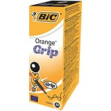Image of Bic Orange Grip Ball Pen / Translucent Barrel / Black / Pack of 20
