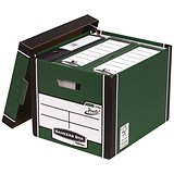 Image of Fellowes Premium 726 Archive Bankers Box / Green & White / Pack of 10