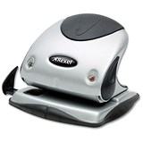 Image of Rexel P225 2-Hole Punch with Nameplate / Silver and Black / Punch capacity: 25 Sheets