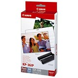 Image of Canon CP100 Multicoloured Ink and Paper Photo Set - Inlcudes Colour Cartridge and 36 Sheets of 102x152mm Paper