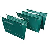Rexel CrystalFiles Classic Suspension Files with Link Tabs / V Base / 15mm Capacity / Foolscap / Pack of 50