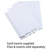 Image of Rexel CrystalFiles Classic Card Inserts for Crystal Link Tabs / White / Pack of 50