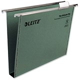 Image of Leitz Ultimate Recycled Suspension Files / Square Base / 30mm Capacity / A4 / Green / Pack of 50