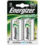 Image of Energizer Advanced Rechargeable Battery / NiMH 2500mAh HR20 / 1.2V / D / Pack of 2
