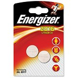 Image of Energizer CR2016 Lithium Battery for Small Electronics / 5000LC / 90mAh / 3V / Pack of 2