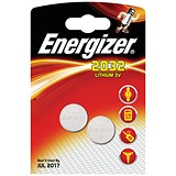 Energizer CR2032 Lithium Battery for Small Electronics / 5004LC / 240mAh / 3V / Pack of 2