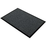 Floortex Door Mat / Dust & Moisture Control / Polypropylene / 900mmx1200mm / Grey