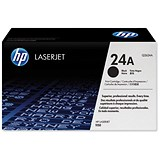 Image of HP 24A Black Laser Toner Cartridge