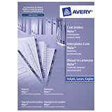 Image of Avery Index Multipunched / 1-100 / A4 / White