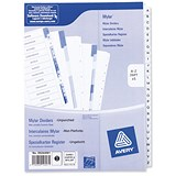 Image of Avery Index Dividers / Unpunched / A-Z / A4 / White / Pack of 5