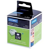 Image of Dymo Labelwriter Labels Standard Address 28x89mm White Ref 99010 S0722370 [Pack 2x130]
