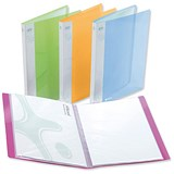 Image of Rexel Ice Display Book / 40 Pockets / A4 / Assorted Translucent Covers / Pack of 10