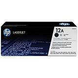 Image of HP 12A Black Laser Toner Cartridge