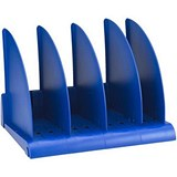 Image of Avery DTR Book Rack with 4 Base Sections & 5 Dividers / W372xD275xH260mm / Blue