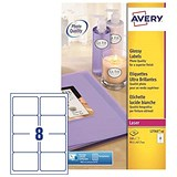 Image of Avery Colour Laser Addressing Labels / 8 per Sheet / 99.1x67.7mm / L7765-40 / 320 Labels