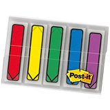 Image of Post-it Index Arrows Portable Pack / Assorted Standard Colours / Pack of 100