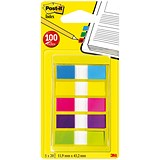 Image of Post-it Small Index Portable pack / Bright Colours / Pack of 100