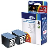 Image of Samsung INK-M40V Black Inkjet Cartridge (Twinpack)