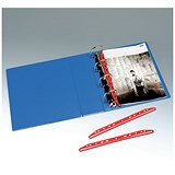 Image of Multipunched Clip For Ringbinders / 300mm / Red / Pack of 25