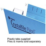 Image of Rexel CrystalFiles Flexi Suspension File Tabs / Clear / Pack of 50