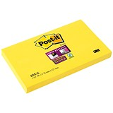 Image of Post-it Super Sticky Removable Notes / 76x127mm / Yellow / Pack of 12 x 90 Notes