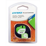 Image of Dymo LetraTag Tape Paper 12mmx4m Pearl White Ref 91200 S0721510