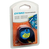Image of Dymo LetraTag Tape Plastic 12mmx4m Hyper Yellow Ref 91202 S0721620