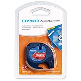 Image of Dymo LetraTag Tape Plastic 12mmx4m Cosmic Red Ref 91203 S0721630