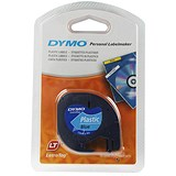 Image of Dymo LetraTag Tape Plastic 12mmx4m Ultra Blue Ref 91205 S0721650