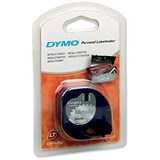 Image of Dymo LetraTag Tape Metallic 12mmx4m Metallic Silver Ref 91208 S0721730