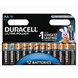 Image of Duracell Ultra Power MX1500 Alkaline Battery / 1.5V / AA / Pack of 12