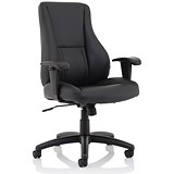Image of Trexus Hampshire Leather Managers Chair - Black
