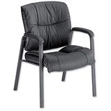 Sonix Camden Leather Visitor Chair - Black
