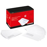 Image of 5 Star C5 Mail Machine Envelopes with Window / Gummed / 90gsm / White / Pack of 500
