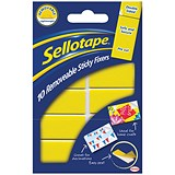 Sellotape Double-sided Sticky Fixers / Removable / 20 x 50mm / 10 Pads / Pack of 12