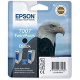 Image of Epson T007 Black Inkjet Cartridges (Twin Pack)