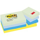 Image of Post-it Colour Notes / 38x51mm / Dreamy Palette Rainbow Colours / Pack of 12 x 100 Notes