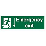 Stewart Superior Fire Exit Sign Emergency Exit 600x200mm Self-adhesive Vinyl Ref SPO54SAV