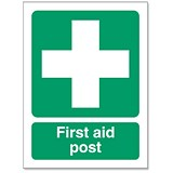 Image of Stewart Superior First-Aid Post Self Adhesive Sign Ref SP051SAV