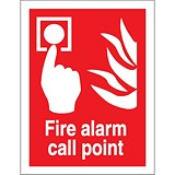 Image of Stewart Superior Fire Alarm Call Point Self Adhesive Sign Ref FF073SAV