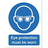 Stewart Superior Eye Protection Must Be Worn Sign W150xH200mm Self-adhesive Vinyl