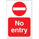 Image of Stewart Superior No Entry Sign for Outdoor Use Foamboard Ref FB024