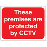 Stewart Superior These Premises are protected by CCTV Sign Outdoor Use W400xH300mm Foamboard