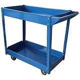 Image of 5 Star 2 Tier Tray Trolley - Blue