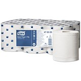 Tork Centrefeed Hand Towel Rolls / 1-Ply / White / 6 Rolls